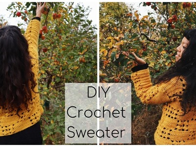How to crochet a sweater.DIY Autumn Sweater