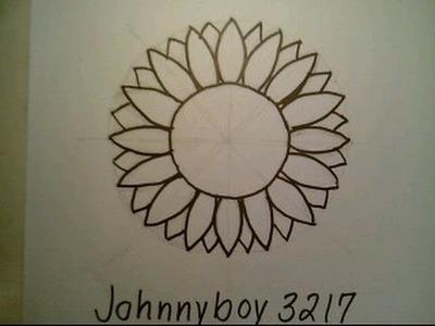 How To Draw A Sunflower Easy Como dibujar un girasol cartoon for Everyone Step By Step