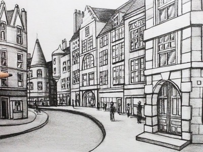How to Draw Buildings in Perspective: A Street in Edinburgh