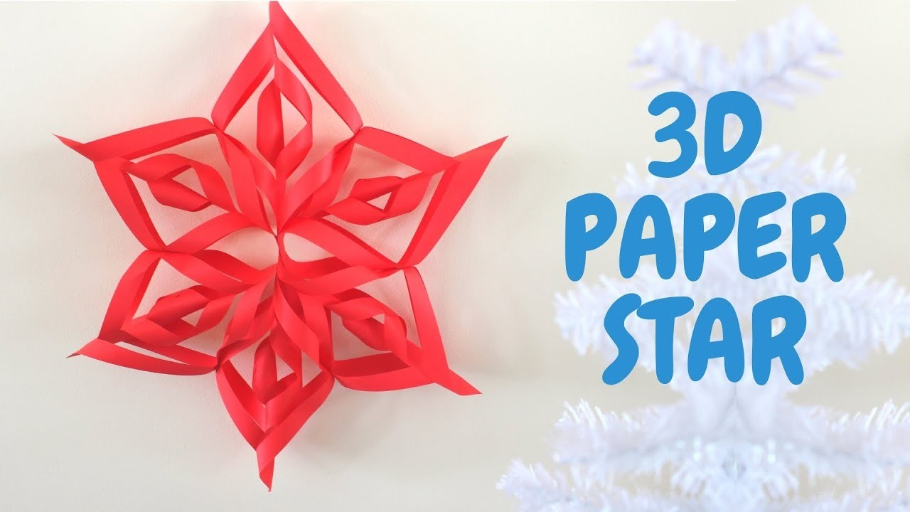 how to make paper craft stars