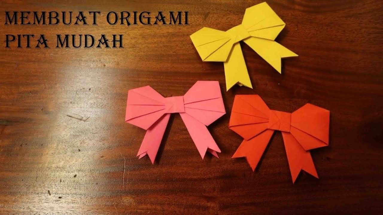 How to make a paper Bow.Ribbon | Easy origami Bow.Ribbons for beginners making