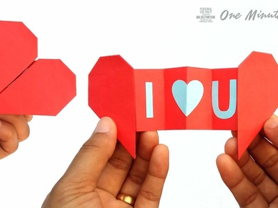 How to make a Paper Heart with Message, Valentine's Day card gift