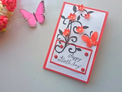 How to make Handmade Birthday card idea. DIY Greeting Cards for Birthday.