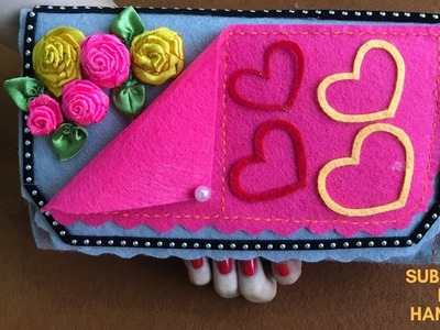 How to Make Money Purse Very Easy - DIY  POUCH AWESOME DESIGN - Handmade Purse Wallet