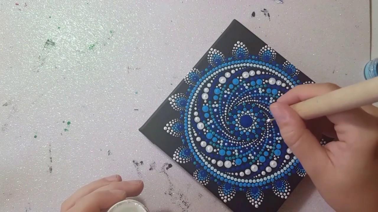 How to paint Mandala for BEGINNERS!# 12 Mandala Spiral Tutorial (medium)