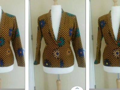 How to Sew Shawl Jacket.Blazer