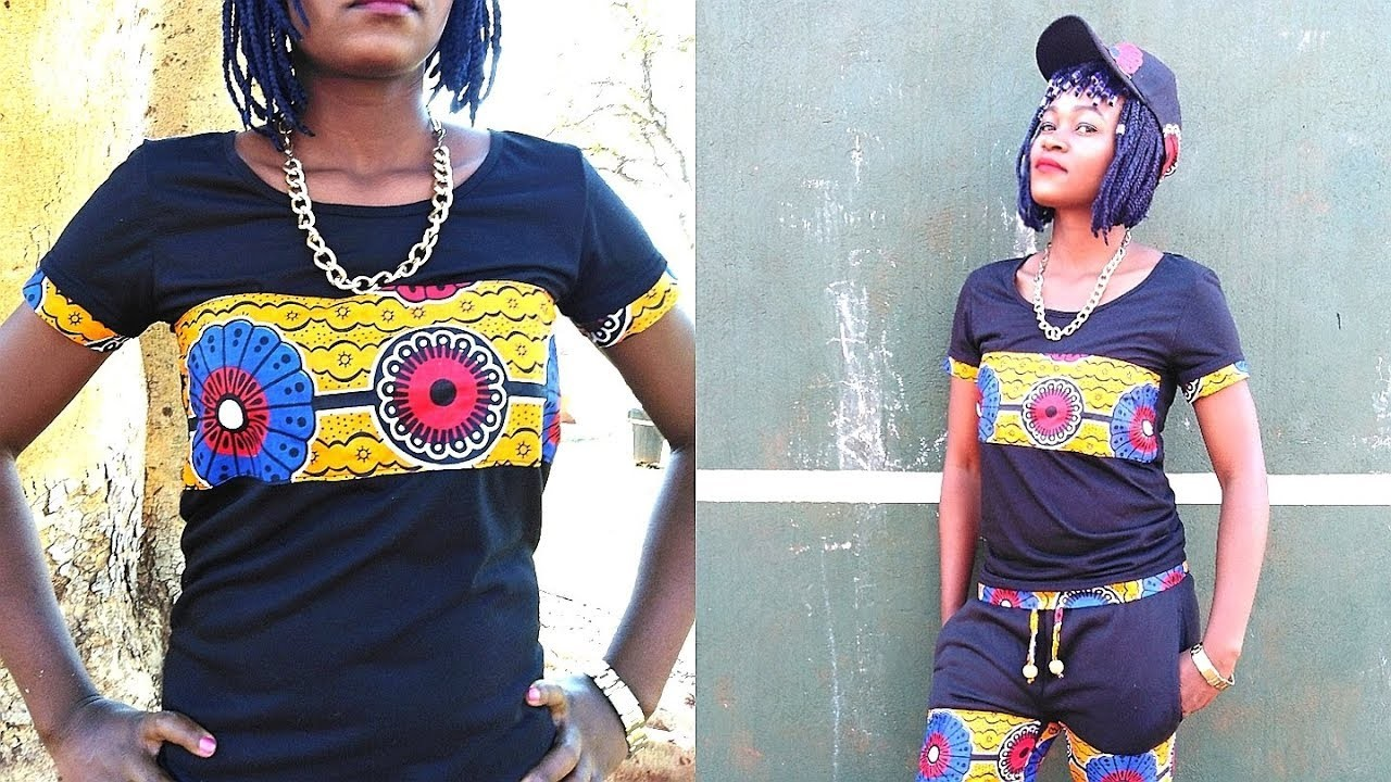 How to sew T-Sirt with African Print-Ankara style 2018