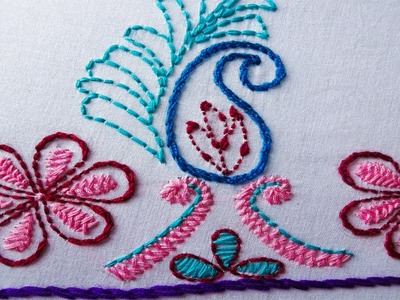 How to stitch nokshi kantha #5 | nokshi kathar design | embroidery for dress