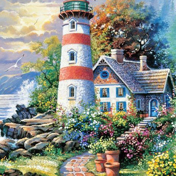 CRAFTS Light House Point Cross Stitch Pattern***LOOK***