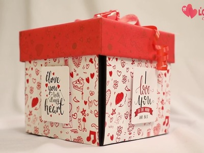 Love Couple Explosion Box Gift by lovegifts.in