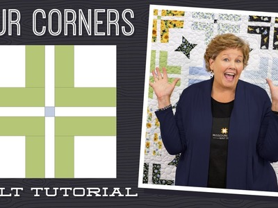 """Make a """"Four Corners"""" Quilt with Jenny Doan of Missouri Star (Instructional Video)"""