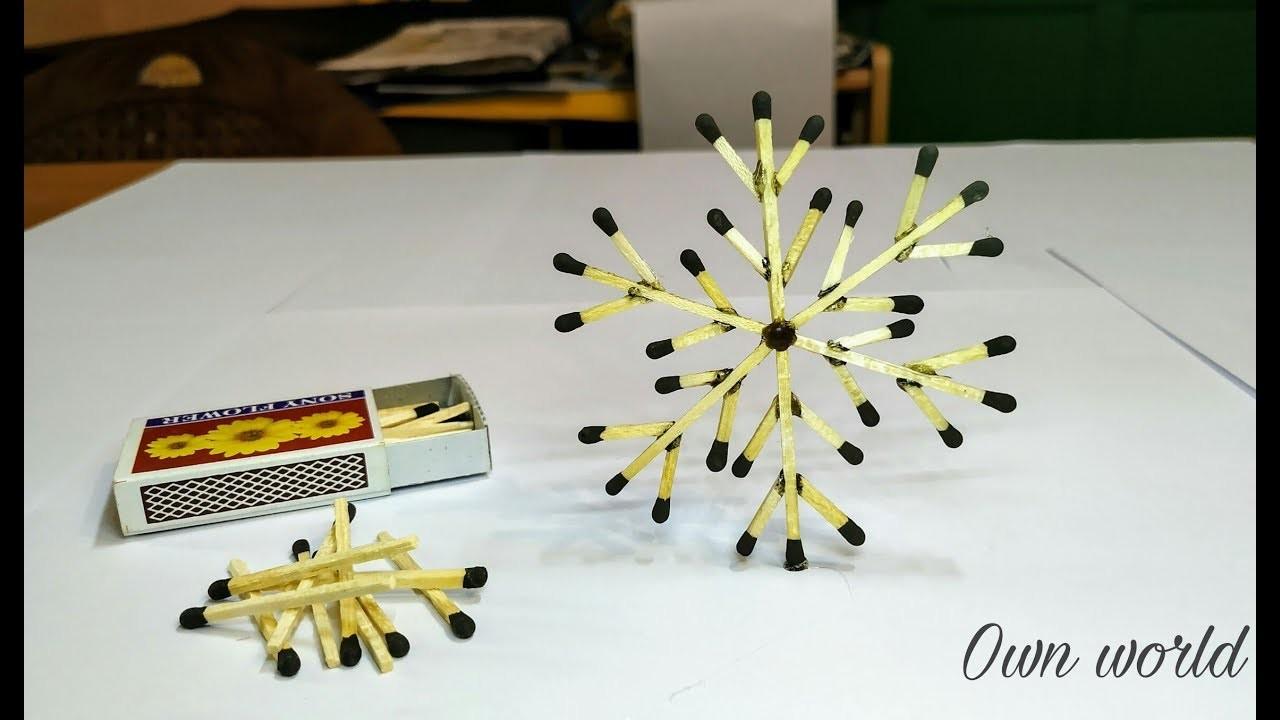 Matchstick Art And Craft Ideas How To Make Matchstick Snowflake