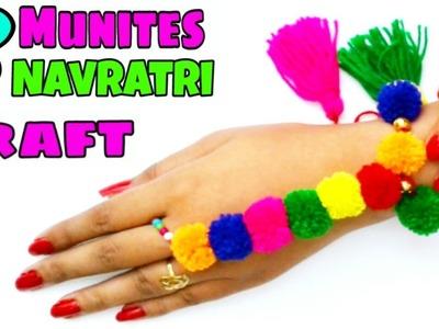 Navratri special jewellery.Diy-Finger ring bracelet.handmade elegant ornament for Navratri.Garba