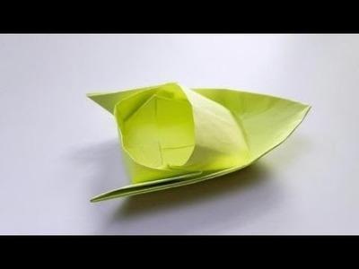 Origami Super Speedboad ????️, Easy origami Tutorial Seri