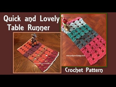 Quick And Lovely Table Runner Crochet Pattern