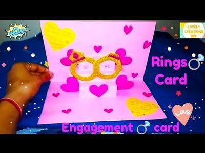 Ring Card DIY.beautiful & simple engagement anniversary card.paper craft.DIY. card tutorial