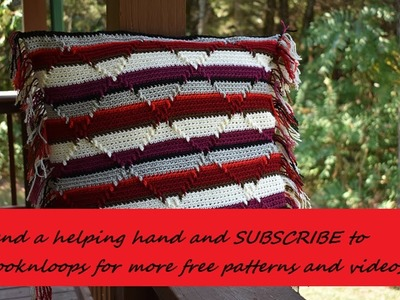 Crochet Subscribe For Part 5 Pillow Cover Blanket Afghan With