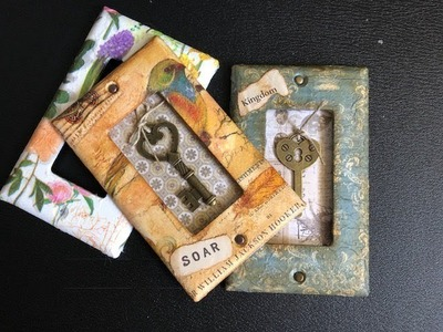TUTORIAL - Making A Shadow Box Using Household Switch Plates