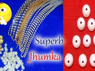 UNIQUE Style Handmade Beautiful Silk Thread Pearl Earrings At Home | Jumkas making | Jewelry Making