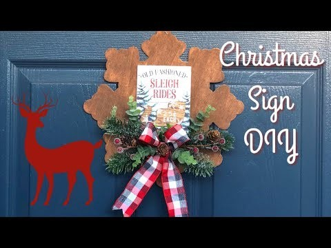 Wood Snowflake Sign   Dollar Tree Christmas Sign DIY