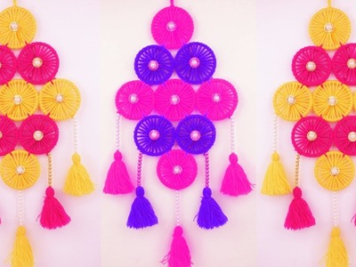 Woolen Wall Hanging With Beaded & Bangles For Home Decor ||  Wall Hanging Toran Making At Home