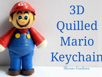 3D Quilling Mario Keychain. How to make Quilled Mario. Quilling Dolls