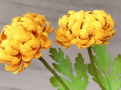 ABC TV | How To Make Mini Chrysanthemum Paper Flower With Shape Punch - Craft Tutorial
