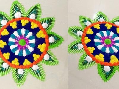 Beautiful Easy Dotted Rangoli for Diwali!