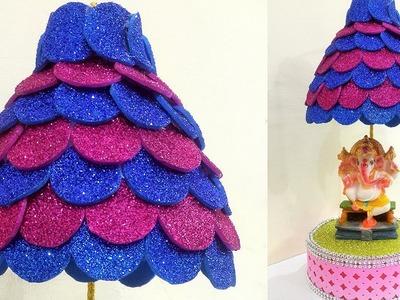 Beautiful Ganpati Decoration Idea | Best out of Waste 'Ganpati Aasan' Decoration | StylEnrich