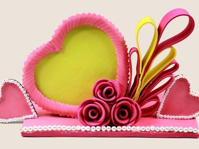 Best Out Of Waste cardboard | DIY Paper Heart Showpiece | Recycled Material Craft