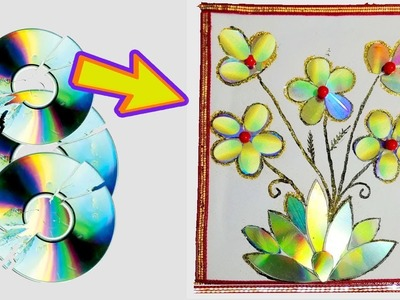 Best out of waste using cd wall hanging craft ideas.DIY craft ideas for home decoration