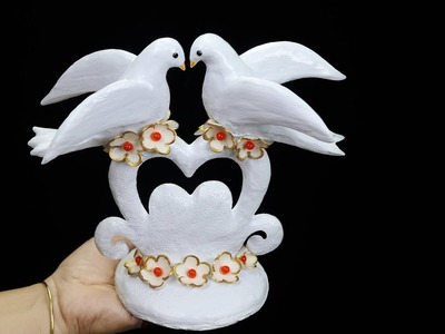 Birthday gift showpiece making at home (Best out of waste).Gift item showpiece