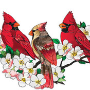 CRAFTS Cardinals In DogWood Tree Cross Stitch Pattern***LOOK***
