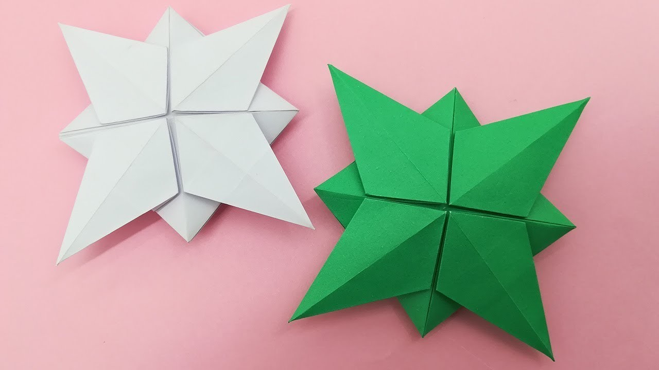 Christmas Star origami Easy Making Video - Xmas Paper Craft Decoration Idea