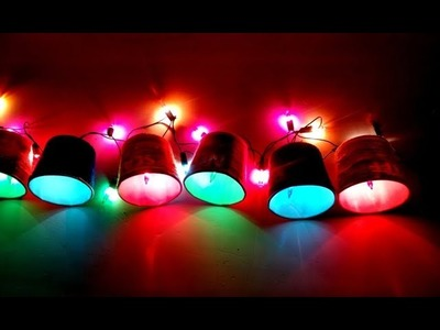 Colorful Diwali light craft with paper coffee glass- diy paper glass light -home decor- Tuber Tip