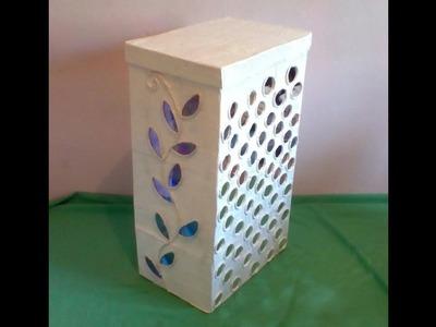 Como  adornar caja  con cds o espejos    how to decorate box with cds or mirrors