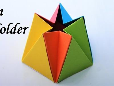 Craft: How to make a paper box easy | pen holder | best pen holder | unique pen holder