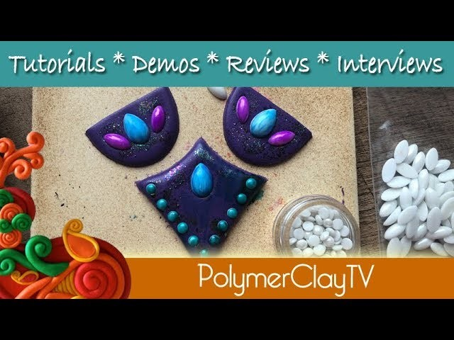 Create your own custom color hotfix Cabochons for polymer clay designs