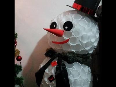 Cum sa faci un om de zapada din pahare - catalin macovei.  How to make a snowman in glasses