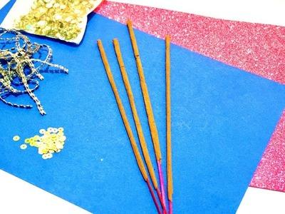DIWALI CARD.Handmade Easy Diwali Card complete tutorial.DIY Diwali craft