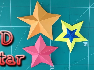 DIY 3D Paper Star | How To Make Simple Star Tutorial | Origami Beautiful Star Christmas Decoration