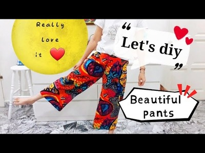 DIY Beautiful pants ~ Really love this!!!cute ~ cute ~ cute| Sewing Art#HandyMum❤