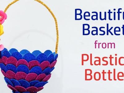 DIY Best Out of Waste Basket | Plastic Bottle Craft Idea | Simple DIY Foam Basket