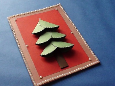 DIY Christmas Greeting Card Making at Home Video Tutorial.