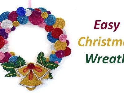 DIY Christmas Wall Decoration Idea : Make Christmas Paper Wreath | DIY Wall Decoration