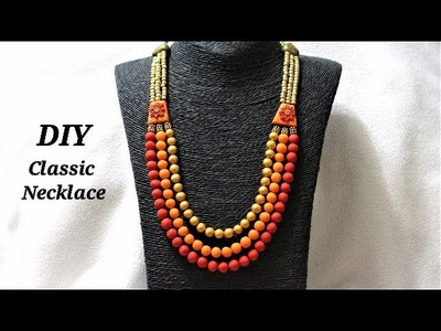 DIY Classic Multi-strand Polymer Clay Necklace | Jewelry Making Tutorial