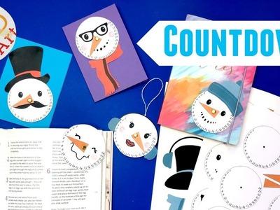 DIY Countdown Snowman Ornament - Christmas Countdown Ideas