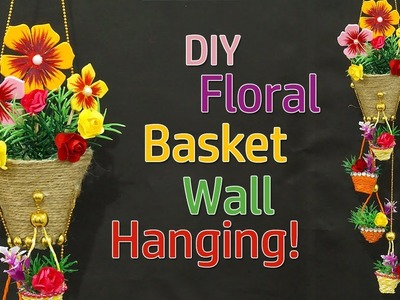 DIY Easy Room Decor Jute Rope Wall Hanging | Best Out of Waste Rope Craft Idea | Floral Wall Hanging