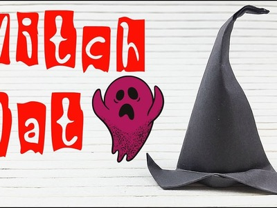 Diy fascinator Origami Witch Hat Paper halloween decorations easy halloween costumes ideas  for kids