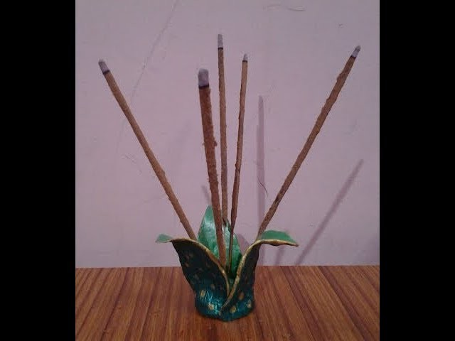 DIY-Handmade decorative incense stick holder out of clay